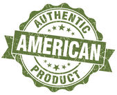 American product grunge green stamp — Stock Photo