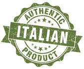 Italian product green grunge stamp — Stock Photo