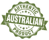 Australian product grunge green stamp — Stock Photo