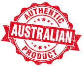 Australian product grunge red stamp — Stock Photo