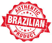 Brazilian product red grunge stamp — Stock Photo