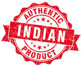 Indian product red grunge stamp — Stock Photo