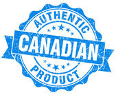 Canadian product blue grunge stamp — Stock Photo