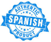 Spanish product blue grunge stamp — Stock Photo