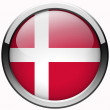 Denmark flag gel metal button — Stock Photo #32490457