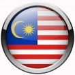 Malaysia flag gel metal button — Stock Photo