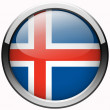 Stock Photo: Iceland flag gel metal button