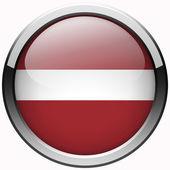 Latvia flag gel metal button — Stock Photo