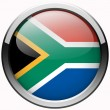South africa flag gel metal button — Stock Photo