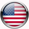 Usa flag gel metal button — Stock Photo