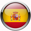 Spain flag gel metal button — Stock Photo #32661475
