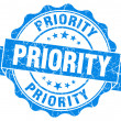 Stock Photo: Priority Grunge Stamp