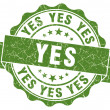 Yes Grunge Stamp — Stock Photo