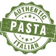 Pasta green grunge stamp — Stock Photo