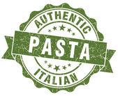 Pasta green grunge stamp — Stock Photo