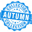 Autumn collection blue grunge stamp — Stock Photo