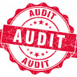 Audit red grunge stamp — Stockfoto #33228247