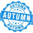 Autumn blue grunge stamp — 图库照片