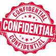 Stock Photo: Confidential red grunge stamp