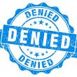 Stock Photo: Denied blue grunge stamp