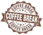 Timbro grunge marrone pausa caffè — Foto Stock