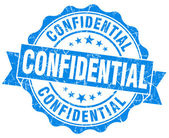 Confidential blue grunge stamp — Stock Photo
