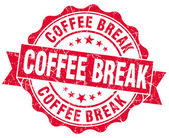 Coffee break red grunge stamp — Stock Photo