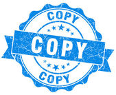 Copy blue grunge stamp — Stock Photo