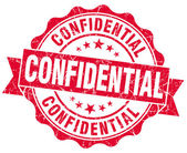 Confidential red grunge stamp — Stock Photo