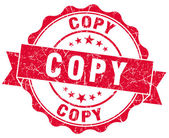 Copy red grunge stamp — Stock Photo