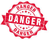 Danger red grunge stamp — Stock Photo