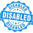 Disabled blue grunge stamp — Stock Photo #33230021