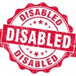Stock Photo: Disabled red grunge stamp