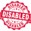 Disabled red grunge stamp — Stock Photo #33230075