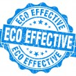 Eco effective blue grunge stamp — Stock Photo #33230137