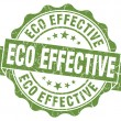 Eco effective green grunge stamp — Stock Photo #33230187