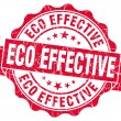 Eco effective red grunge stamp — Stock Photo #33230261