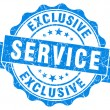 Stock Photo: Exclusive service blue grunge stamp