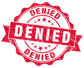 Denied red grunge stamp — Stock Photo