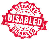 Disabled red grunge stamp — Stock Photo