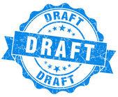 Draft blue grunge stamp — Stock Photo