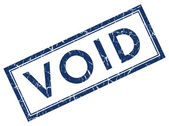 Void square grunge blue stamp — Stock Photo