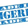 Made in Nigeria grunge blue stamp — Stock Photo