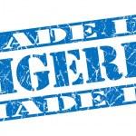Made in Nigeria grunge blue stamp — Stock Photo