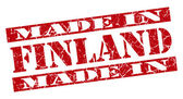 Made in Finland grunge red stamp — Stok fotoğraf