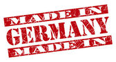 Made in Germany grunge red stamp — Stock Photo