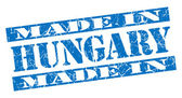 Made in Hungary grunge blue stamp — Stock Photo