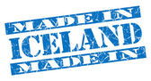 Made in Iceland grunge blue stamp — Stock Photo