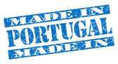 Made in Portugal grunge blue stamp — Stockfoto