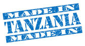 Made in Tanzania grunge blue stamp — Photo